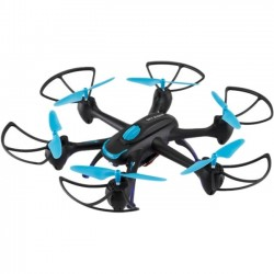 GPX - DRW557BU - SkyRider Night Hawk Hexacopter Drone with Wi-Fi Camera - 2.40 GHz - Battery Powered - 0.13 Hour Run Time - 300 ft Operating Range - 4 Channel - Wi-Fi