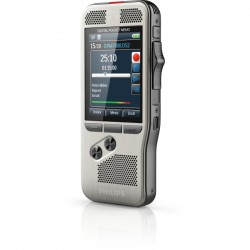 Philips - DPM7000/01 - Philips Pocket Memo Voice Recorder DPM7000 - 16 GBSD, SDHC Supported - 2.4 LCD - MP3, DSS, WAV - Headphone - 700 HourspeaceRecording Time - Portable