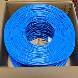 Premiertek.net - CAT6-CCA-1KFT-BL - Premiertek Cat6 Bulk Cable 1000ft (Blue) - Category 6 for Network Device - 125 MB/s - 1000 ft - Bare Wire - Bare Wire - Blue