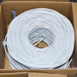 Premiertek.net - CAT6-CCA-1KFT-W - Premiertek Cat6 Bulk Cable 1000ft (White) - Category 6 for Network Device - 125 MB/s - 1000 ft - Bare Wire - Bare Wire - White