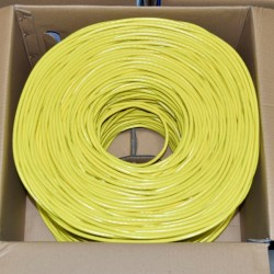 Premiertek.net - CAT6-CCA-1KFT-Y - Premiertek Cat6 Bulk Cable 1000ft (Yellow) - Category 6 for Network Device - 125 MB/s - 1000 ft - Bare Wire - Bare Wire - Yellow