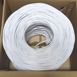 Premiertek.net - CAT5E-1KFT-W - Premiertek Cat5e Bulk Cable 1000ft (White) - Category 5e for Network Device - 125 MB/s - 1000 ft - Bare Wire - Bare Wire - White