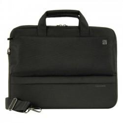 Tucano - BDR1314 - Tucano Dritta Carrying Case for 15 Notebook, MacBook Pro (Retina Display), Ultrabook, MacBook Pro - Black - Polyester - Shoulder Strap, Handle - 11.8 Height x 15.7 Width x 2.8 Depth