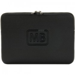 Tucano - BF-E-MBA13 - Tucano Elements Second Skin Carrying Case (Sleeve) for 13 MacBook Air - Black - Anti-slip - Neoprene - Embossed Graphics - 9.7 Height x 13.4 Width x 0.8 Depth