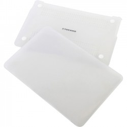 Tucano - HSNI-MBR13-TR - Tucano Nido Hard-Shell Case MacBook Pro 13 Retina - MacBook Pro (Retina Display) - Clear - Smooth Textured, Tucano Milano Italy Logo - Rubberized - Polycarbonate