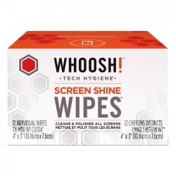 Whoosh - 1FGWP12CT - Whoosh. Screen Shine Wipes 12 Pack - For Display Screen - Alcohol-free, Ammonia-free, Non-toxic, Odorless - 12 Pack