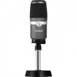 AverMedia - AM310 - AVerMedia AM310 Microphone - 20 Hz to 20 kHz - Wired - 60 dB - Condenser - Cardioid - Desktop - USB
