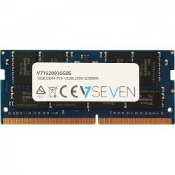 V7 - V71920016GBS - V7 16GB DDR4 SDRAM Memory Module - 16 GB (1 x 16 GB) - DDR4 SDRAM - 2400 MHz DDR4-2400/PC4-19200 - 1.20 V - Non-ECC - Unbuffered - 260-pin - SoDIMM