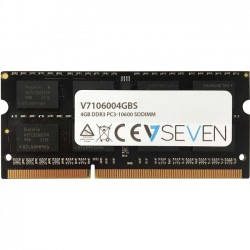 V7 - V7106004GBS - V7 4GB DDR3 PC3-10600 - 1333mhz SO DIMM Notebook Memory Module - V7106004GBS - 4 GB - DDR3 SDRAM - 1333 MHz DDR3-1333/PC3-10600 - Unbuffered - 204-pin - SoDIMM