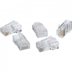 4xem - 4X1000PKC6 - 4XEM 1000PK Cat6 RJ45 Ethernet Plugs/Connectors - 1000 Pack - 1 x RJ-45 Male - Clear