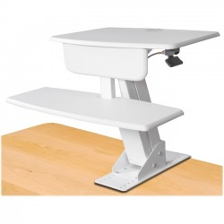 Kantek - STS800W - Kantek Desk-mounted Sit-to-Stand Workstation - 25 lb Load Capacity - 22 Height x 26.8 Width x 24.5 Depth - Desktop - White