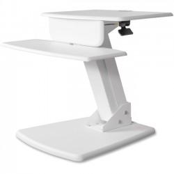 Kantek - STS810W - Kantek Desktop Sit-to-Stand Computer Workstation - 25 lb Load Capacity - 22 Height x 26.8 Width x 23.5 Depth - Desktop - White
