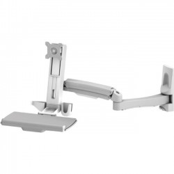 Amer Networks - AMR1AWSL - Amer Mounting Arm for Monitor, Keyboard, Mouse - 24 Screen Support - 23.15 lb Load Capacity