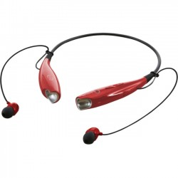 GPX - IAEB25R - iLive Wireless Stereo Headset - Stereo - Red - Wireless - Bluetooth - 33 ft - 32 Ohm - 20 Hz - 20 kHz - Earbud, Behind-the-neck - Binaural - In-ear