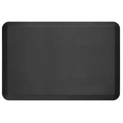 Ergoguys - 104-01-2436-1 - Newlife Eco Pro Anti Fatigue Mat, Black, 24x36 - Floor - 36 Length x 24 Width x 0.75 Thickness - Rectangle - Brushed Texture Design - Polyurethane Foam, Bio-Foam - Black