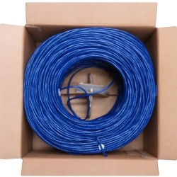 4xem - 4XCAT61000BL - 4XEM Cat6 UTP Bulk Cable - Category 6 for Network Device - 153.60 MB/s - 1000 ft - Bare Wire - Bare Wire - Blue