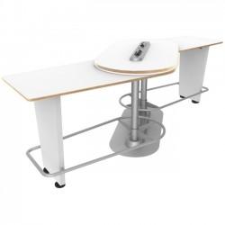 Ergoguys - IM-PIVOTWH-01 - Ergoguys InMovement Pivot Table, Bright White - 42.50 Height x 48 Width - Bright White