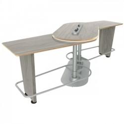 Ergoguys - IM-PIVOTWA-01 - Ergoguys InMovement Pivot Table, Weathered Ash - 42.50 Height x 48 Width - Weathered Ash