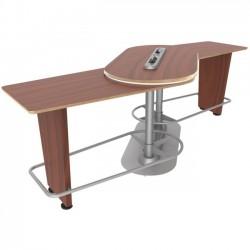Ergoguys - IM-PIVOTBC-01 - Ergoguys InMovement Pivot Table, Blossomwood Cherry - 42.50 Height x 48 Width - Blossom Cherrywood