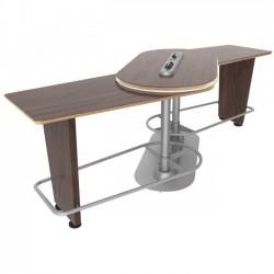 Ergoguys - IM-PIVOTBW-01 - Ergoguys InMovement Pivot Table, Black Walnut - 42.50 Height x 48 Width - Black Walnut