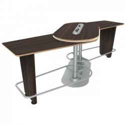 Ergoguys - IM-PIVOTDE-01 - Ergoguys InMovement Pivot Table, Ebony - 42.50 Height x 48 Width - Ebony