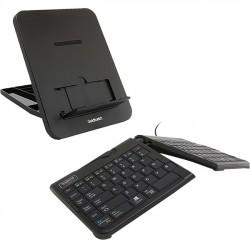 Goldtouch - GTLS-0077UB - GoldTouch GTP-0044 Wired Mobile Keyboard & GTLS-0077U Stand Bundle - Black