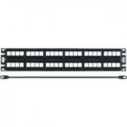 Panduit - NKFP48KSRBSY - Panduit NetKey Modular Patch Panel - 48 Port(s) - 2U High - Black - 19 Wide - Rack-mountable