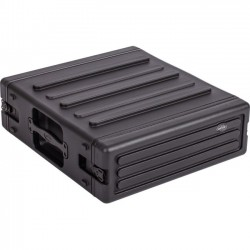 SKB Cases - 1SKB-R3U - SKB 3U Roto Rack - Internal Dimensions: 24 Length x 19 Width x 5.25 Depth - External Dimensions: 24 Length x 22.4 Width x 7.6 Depth - Twist Latch Closure - Stackable - Black