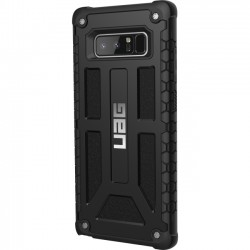 Urban Armor Gear - NOTE8-M-BLK - Urban Armor Gear Monarch Series Galaxy Note 8 Case - Smartphone - Black - Top Grain Leather, Polycarbonate, Thermoplastic Polyurethane (TPU)