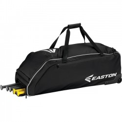 Easton - A159032BK - Easton E610W Carrying Case (Roller) for Baseball Bat, Shoes, Baseball, Gear, Key, Wallet - Black - Carrying Strap - 12 Height x 14.5 Width x 36 Depth
