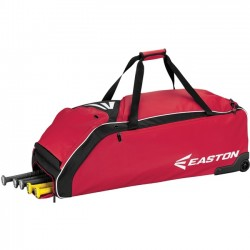 Easton - A159032RD - Easton E610W Carrying Case (Roller) for Baseball Bat, Shoes, Baseball, Gear, Key, Wallet - Red - Carrying Strap - 12 Height x 14.5 Width x 36 Depth