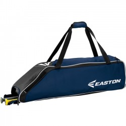 Easton - A159033NY - Easton E310W Carrying Case (Roller) for Gear, Bat, Baseball - Navy - Carrying Strap - 9 Height x 9 Width x 36 Depth