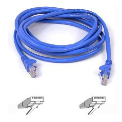 Belkin / Linksys - A3L980-10-BLU-S - Belkin 10ft CAT6 Ethernet Patch Cable Snagless, RJ45, M/M, Blue - Patch cable - RJ-45 (M) to RJ-45 (M) - 10 ft - UTP - CAT 6 - molded - blue - B2B - for Omniview SMB 1x16, SMB 1x8, OmniView SMB CAT5 KVM Switch
