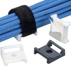 Panduit - ABMT-S6-C - PANDUIT Tak-Ty Hook & Loop Cable Tie Mount - Cable Tie Mount - Black - 100 Pack