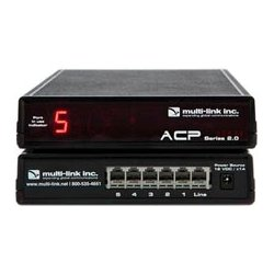 Multi-Link - ACP-500 - Multi-Link ACP-500 Out-of-Band Network Switch & Call Router - 5 Device Ports - 1 x Phone Lines - 5 x Devices - Automatic