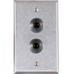 Alarm Controls - RP-27A - Alarm Controls Two Push Button Station - Single Gang - Black - Satin Stainless Steel
