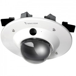 Vivotek - AM1000 - Vivotek Ceiling Mount for Surveillance Camera - 25 lb Load Capacity - ABS Plastic, Polycarbonate, Steel - Transparent, Off White