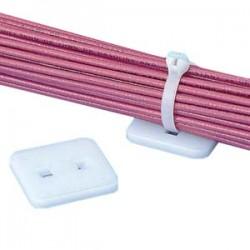 Panduit - AM2-C - PANDUIT Low Profile Cable Tie Mount - Cable Tie Mount - Natural - 100 Pack