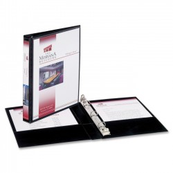 Avery Dennison - 27725 - Mini Size Durable View Binder w/Round Rings, 8 1/2 x 5 1/2, 1/2 Cap, Black