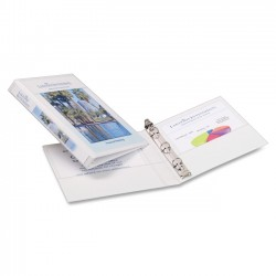 Avery Dennison - 27726 - Mini Size Durable View Binder w/Round Rings, 8 1/2 x 5 1/2, 1/2 Cap, White