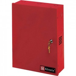 Altronix - AL1024ULACMCBR - Altronix 8 PTC Outputs Power Supply/Access Power Controller. 24VDC @ 10A. Red Enclosure - 110 V AC Input Voltage - Wall Mount