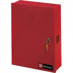 Altronix - AL1024ULACMR - Altronix 8 Fused Outputs Power Supply/Access Power Controller. 24VDC @ 10A. Red Encl - 110 V AC Input Voltage - Wall Mount