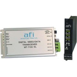 American Fibertek - MR-713C-SL - Afi MR-713C-SL Transceiver/Media Converter - Single-mode - Standalone