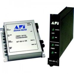 American Fibertek - MR-89C-GE - Afi MR-89C-GE Transceiver/Media Converter - 1 x ST Ports - Multi-mode - Standalone