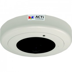 ACTi - B57A - ACTi Hemispheric B57A 6 Megapixel Network Camera - Color, Monochrome - 65.62 ft Night Vision - Motion JPEG, H.264 - 3072 x 2048 - 1.65 mm - CMOS - Cable