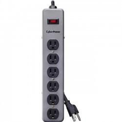 CyberPower - B608MGY - CyberPower B608MGY Metal Surge Protector - 6 x NEMA 5-15R - 900 J - 125 V AC Input
