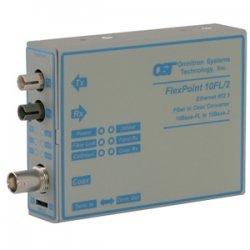 Omnitron - 4312-2 - Omnitron Systems FlexPoint Ethernet Media Converter - 1 x BNC , 1 x ST - 10Base-2, 10Base-FL - External