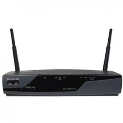 Cisco - CISCO877-SEC-K9-RF - Cisco 877 Integrated Services Router - 4 x 10/100Base-TX LAN, 1 x ADSL WAN