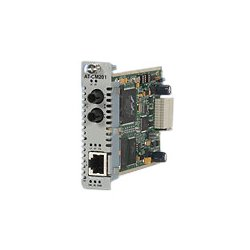 Allied Telesis - AT-CM302 - Allied Telesis Converteon AT-CM302 Media Converter - 1 x Network (RJ-45) - 1 x SC Ports - 10/100Base-TX, 100Base-FX - Internal