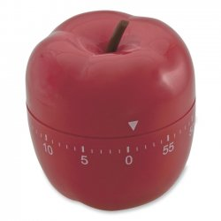 Baumgartens - 77042 - Baumgartens Red Apple Timer - 1 Hour - For Office, Classroom - Red